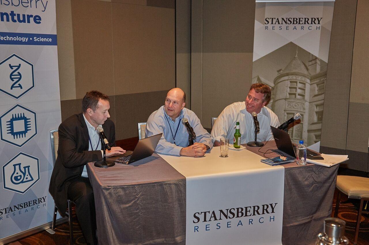 Stansberry Research Conference photo Brett Aitken, Dave Lashmet & Porter Stansberry
